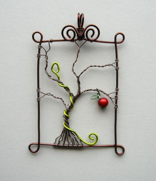 Great tree of life idea with an apple and a serpent (green)!