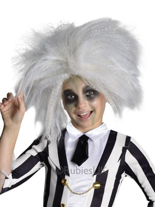 This Child Beetlejuice Wig is the perfect thing to complete your Beetlejuice costume this Halloween from www.party-head.co.uk £9.95