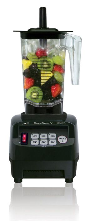 JTC OmniBlend!!!  The worlds most affordable commercial quality blender for your home!  Amazing Whole Foods Machine.... Hot Soup in 3-6 minutes, Ice-cream in 30 seconds, juice, it grinds, chops, and even crushes ice in 4 seconds  www.jtcomniblend.co.uk