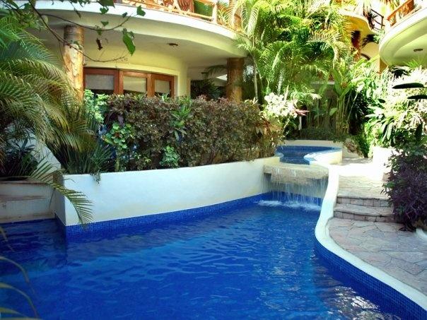 Villas Sacbe features a unique plunge pool set inside a tropical courtyard.www.playabeachgetaways.com