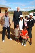 Professor Nordling visiting with Pastor Bheki at Weeber, MP after church.