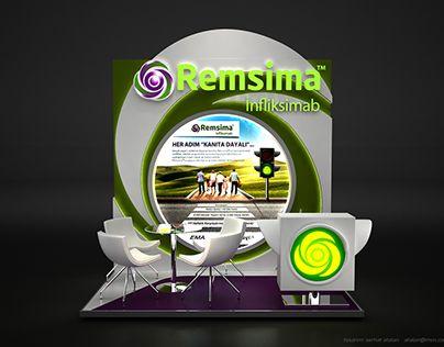 MUSTAFA NEVZAT - REMSIMA  Fuar ve Medikal Kongre Standı Tasarımı / Exhibition Booth Stand Design 3x2