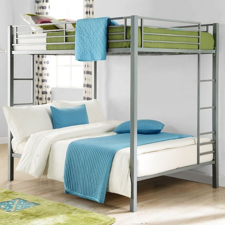 Bunk Beds On Sale Kids Full Size Over Double Teen Bedroom Loft Furniture Silver #DHP