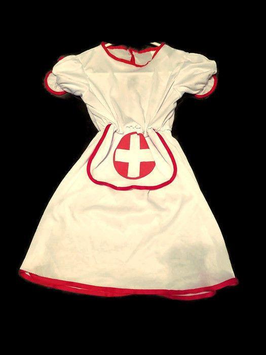 GIRL'S NURSE HALLOWEEN COSTUME CHILD SIZE MEDIUM (8-10)  #Dress