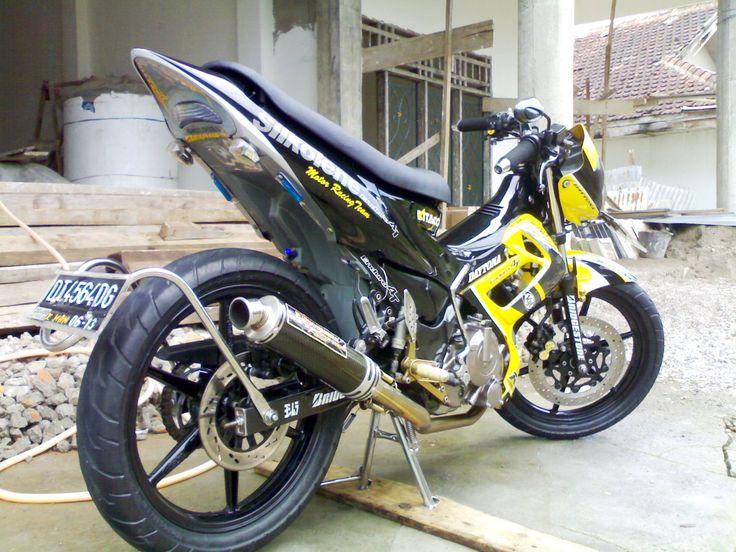 gambar foto modifikasi motor satria fu 2013