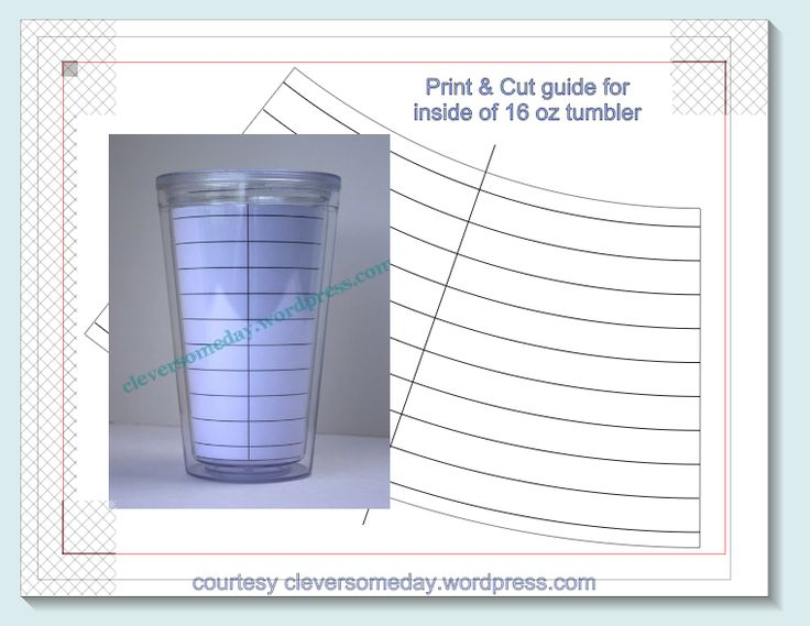 I have shared these files in various forums over the years but never got around to putting them on my blog. If you are cutting vinyl for a standard 16 oz double wall tumbler then this template will...