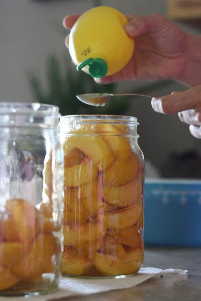 This is a great alternative to canning those peaches without all that sugar!!! ♥