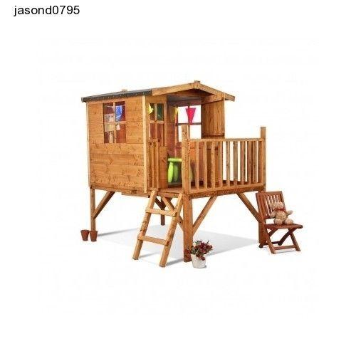 Childrens Wooden Outdoor Playhouse Garden, Fun Kids Play Toys Backyard Playset