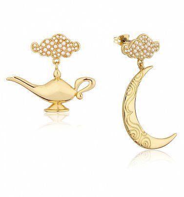 12b72fa6ab17d Gold Plated Swarovski Pearl Aladdin Genie Lamp Drop Earrings from ...