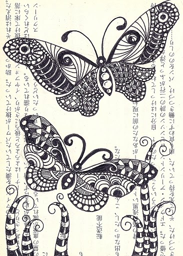 109 Best Zentangle Insects Images On Pinterest