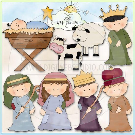 Away in a manger 1 no exclusivo cheryl seslar clip art - Dibujos de nacimientos de navidad ...