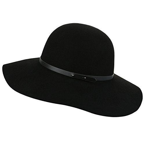 0306bd7e8c5 Sedancasesa Wide Brimmed 100% Wool Felt Floppy Hat Vintage Women Warm Triby  Hats