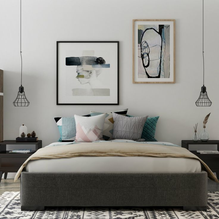 A simple bedroom design with comfortable throw