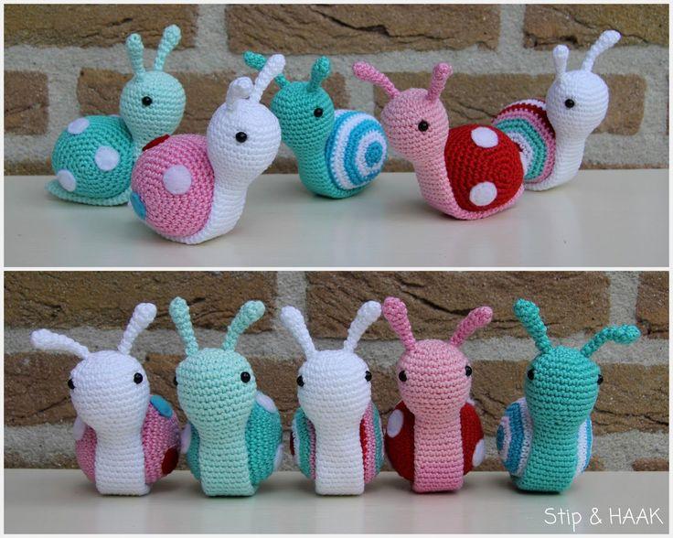 Cute little snail Sofie. Designed by Stip en Haak. Free pattern