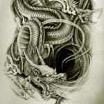 Oriental Dragon Tattoo Style (26)