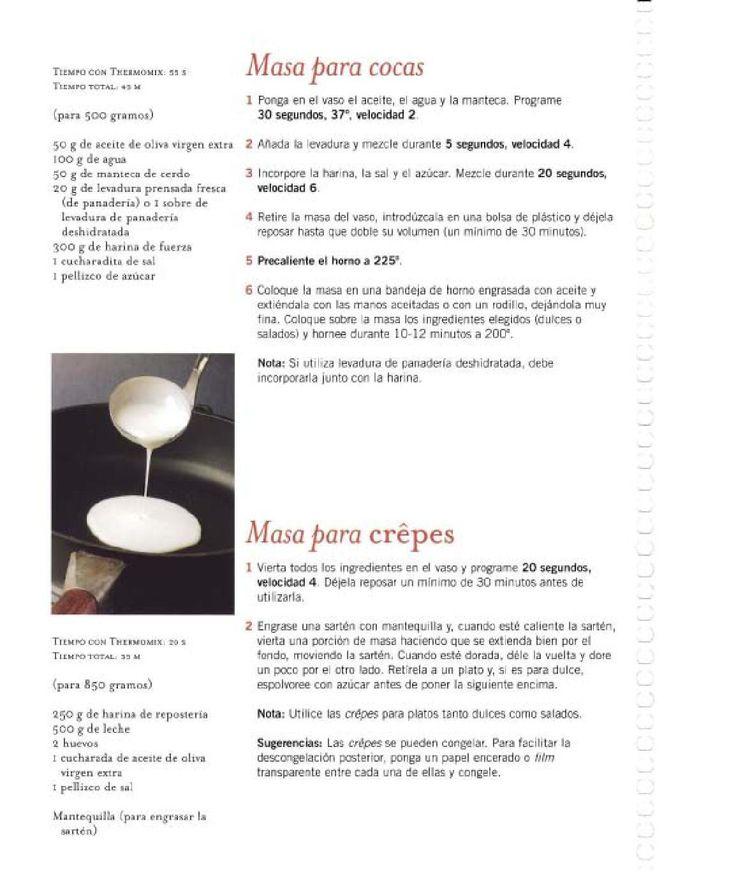 Masa para cocas y crepes