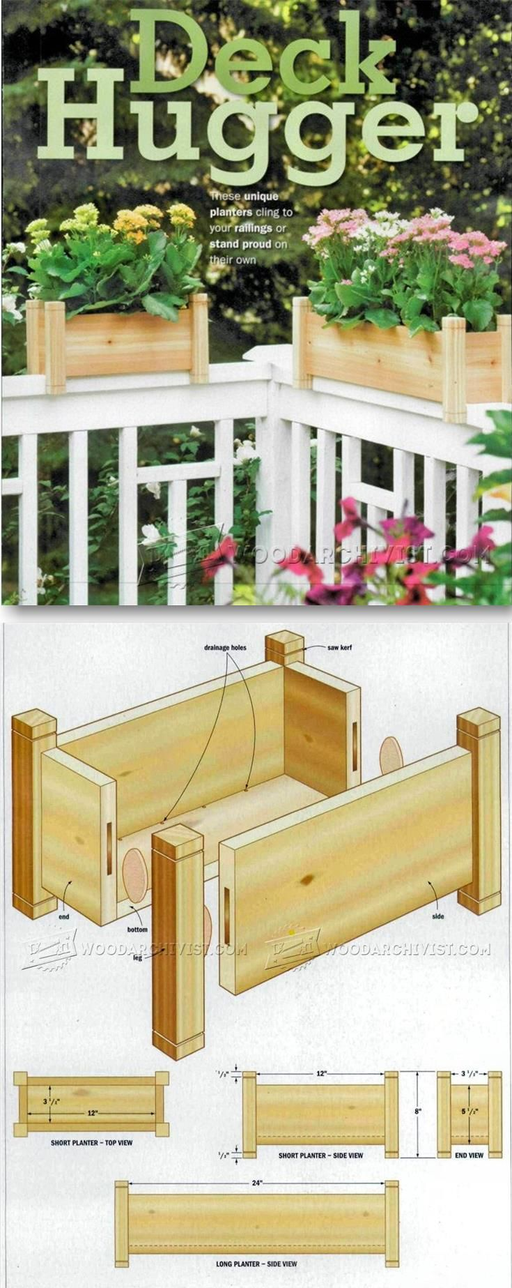 How to build a planter box for a deck - 17 Best Ideas About Deck Planters On Pinterest Deck Garden Privacy And Privacy Screens