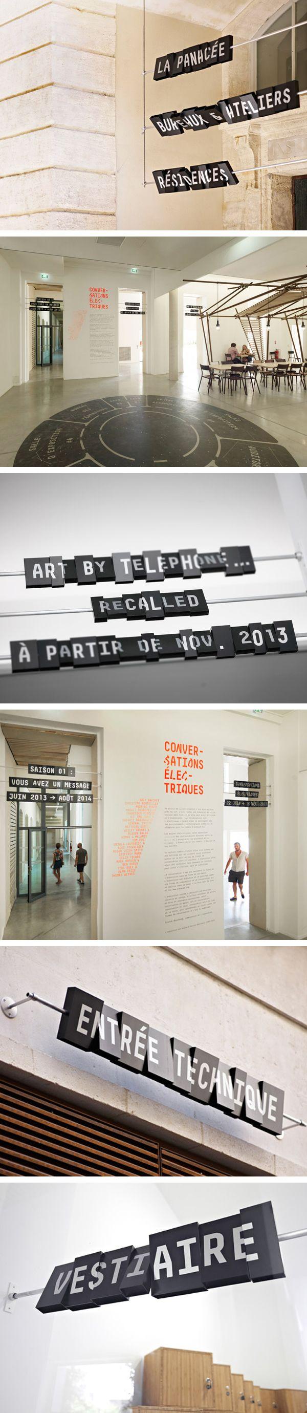 La Panacée — Montpellier, France / Signage © Abrège + Kidnap Your Designer