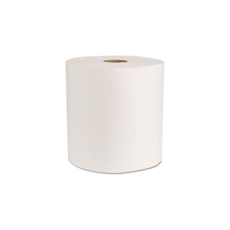 Boardwalk Green Universal Roll Towels, Natural White, 8x800ft-6 Rolls/Carton
