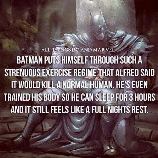 And you wonder why Batman is not only the man and boss, but also the greatest superhero of all time. Much respect!