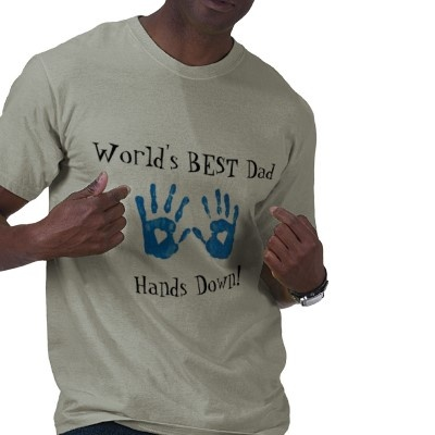 Best dad (handprints) T-Shirt from http://www.zazzle.com/best+dad+gifts