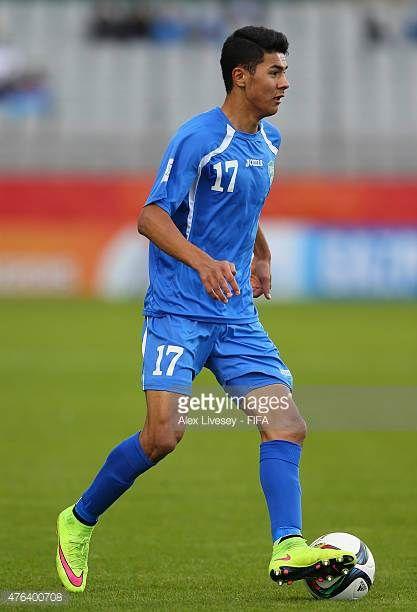Dostonbek Khamdamov of Uzbekistan runs with the ball during the FIFA U20 World Cup Group F match between Fiji and Uzbekistan at the Northland Events...