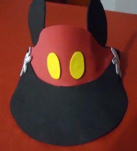 Viseras sencillas de Mickey Mouse en goma eva