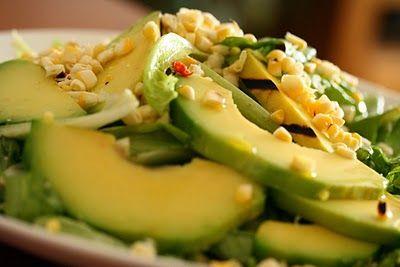 La Cucinetta: Salada de abacate e milho grelhados