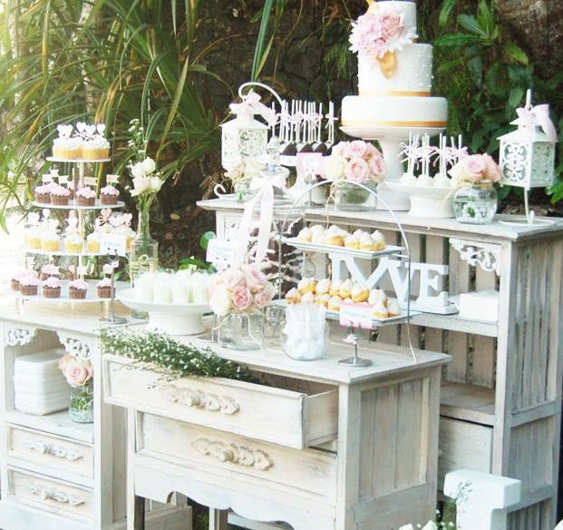 Shabby Chic Dessert Table by Ixora