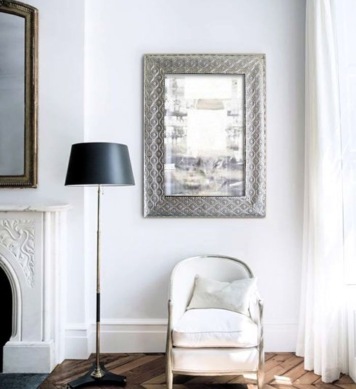 15 best espejos decoracion images on pinterest silver for Espejo plateado grande