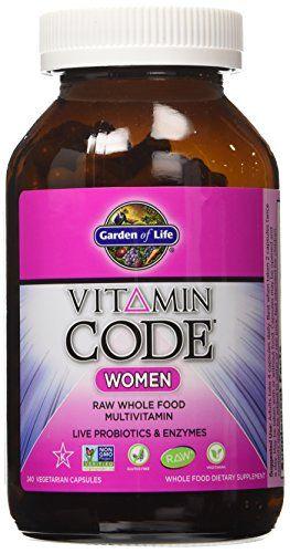 Garden of Life Vitamin Code Women's Multi, 240 Capsules Garden of Life http://www.amazon.com/dp/B00322LLGA/ref=cm_sw_r_pi_dp_4ClYvb0GA76GC