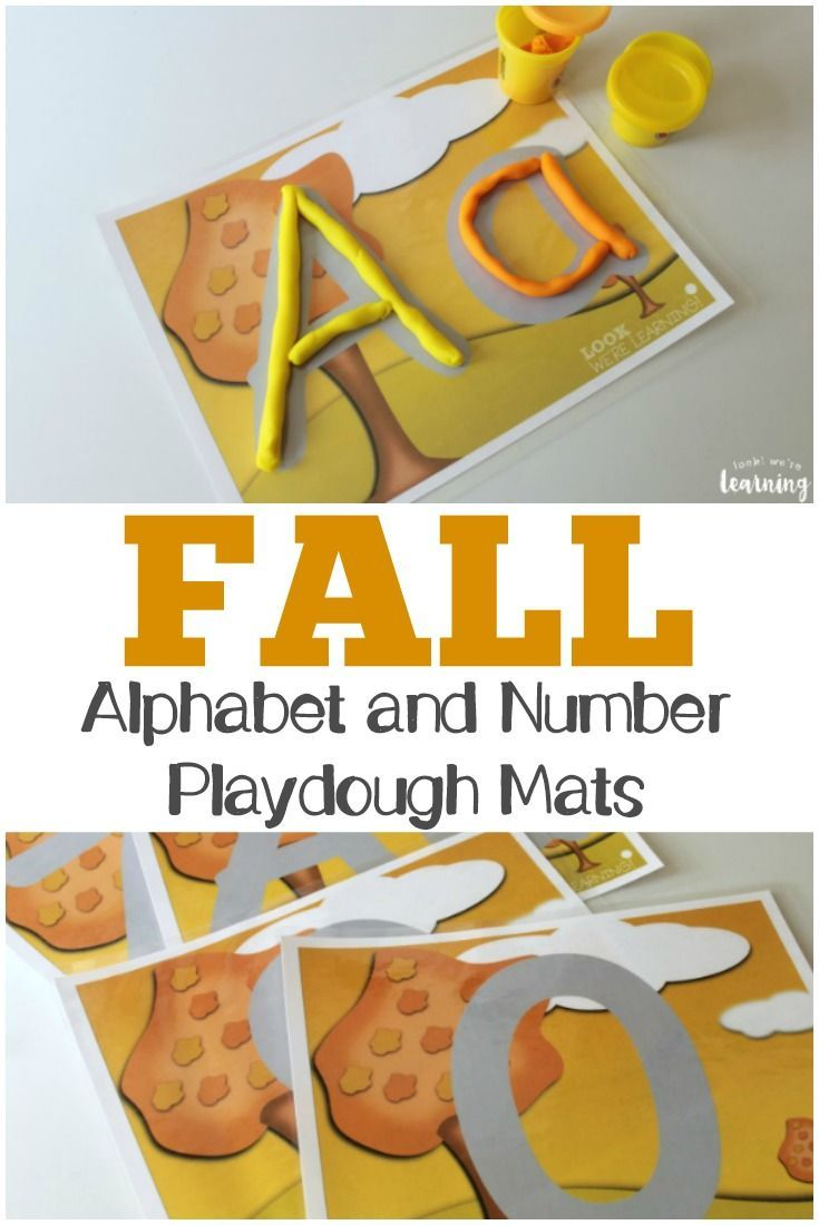 Use these printable fall playdough mats to teach your little ones to form letters and numbers!