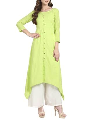 Check out what I found on the LimeRoad Shopping App! You'll love the green cotton high low kurta. See it here http://www.limeroad.com/products/14077923?utm_source=6c79537446&utm_medium=android