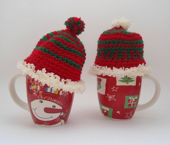 Christmas cap cosy  crochet christmas christmas mug by CRAZYBOOM