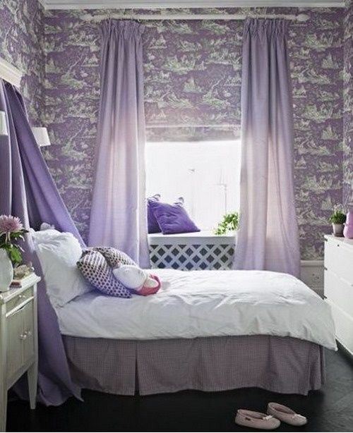 ideas room bedroom curtains lovely girls teenage purple girl for teen