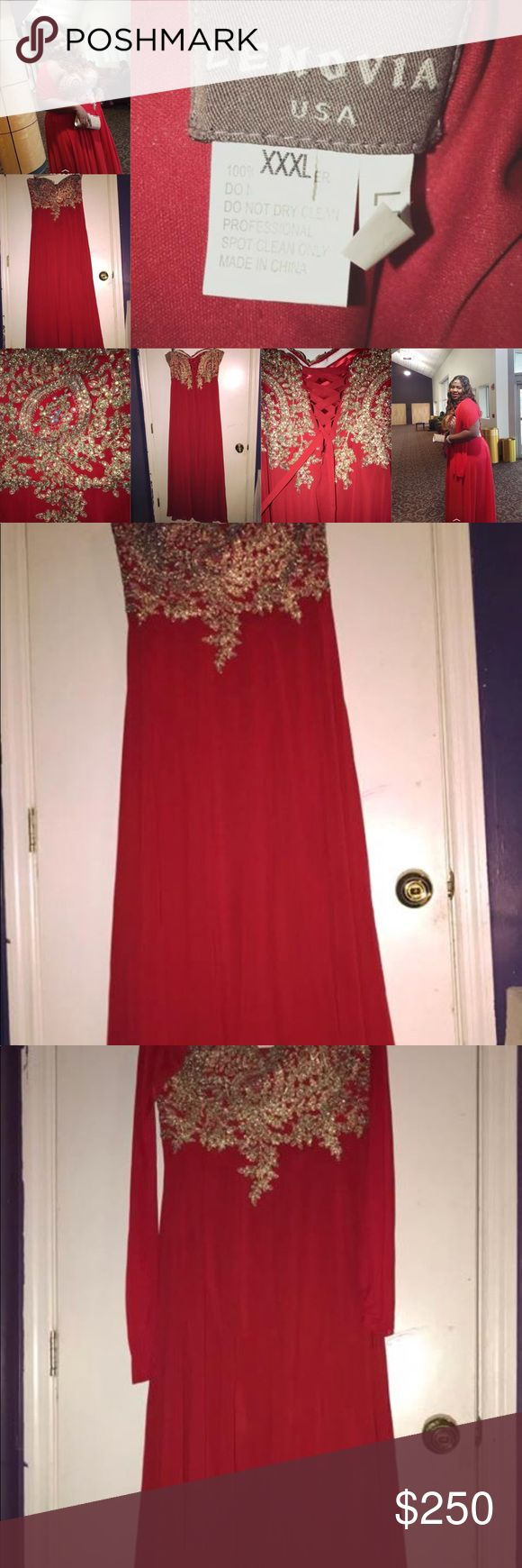 Plus Size Prom Dress This is a strapless red prom dress for a plus size girl. The size of the dress is a 3X aka XXXL (side note: this dress run smaller than the normal size, which means that if you wear a 1X aka XL or a 2X aka XXL, then you're qualified for the dress). I have a couple of pictures of the dress above, some pictures will include me wearing it, when I went to my senior prom. Now I just feel like I have no use for it no more and I don't want it to go to waste. So yes, have at…