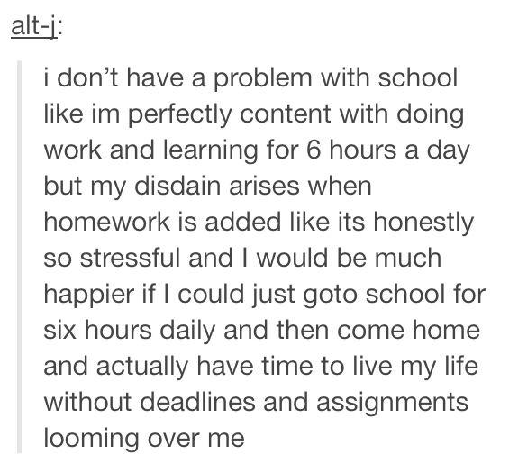 School sucks ass and?