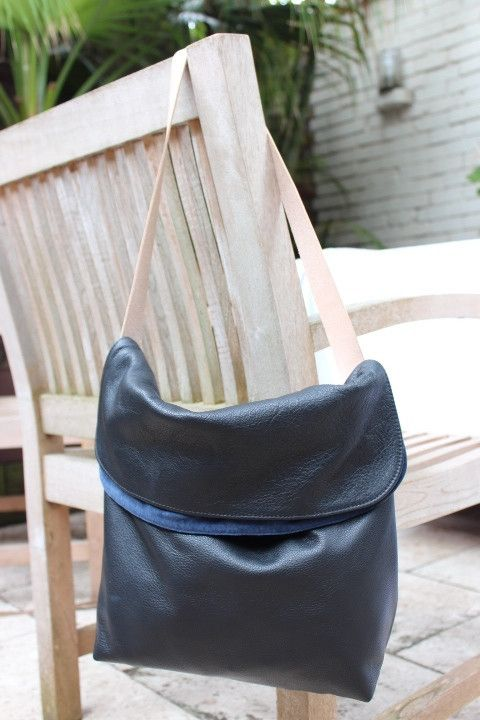 The Chloe Bag #Tan suede  #medium #navy-blue-suede  #shoulder-bag