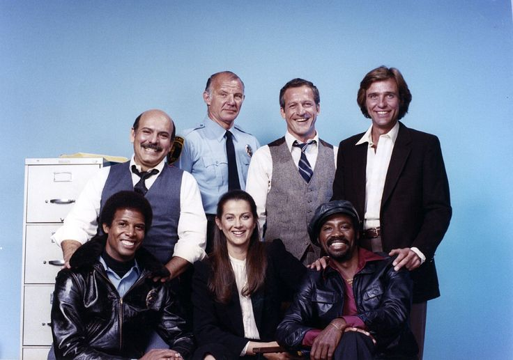 Rene Enriquez, Michael Conrad, Daniel J. Travanti, Kiel Martin, Michael Warren, Veronica Hamel and Taurean Blaque