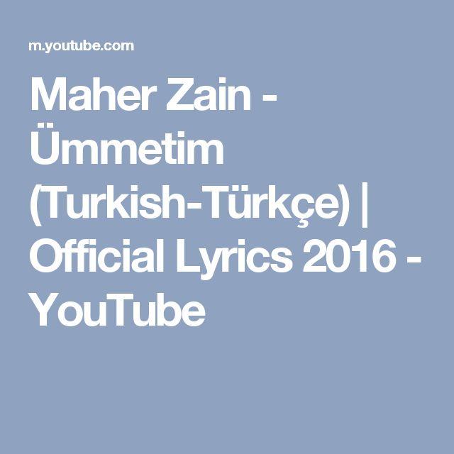 Maher Zain - Ümmetim (Turkish-Türkçe) | Official Lyrics 2016 - YouTube
