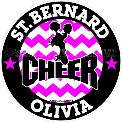 Chr143 cheerleading personalized car window sport decals stickers clings magnets or wall decals choose below