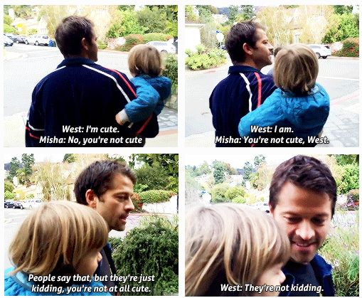 Misha and West Collins - Cooking Fast & Fresh with West! Thanksgiving Feast: Episode 3 - Cuteness!  You tell 'em West!