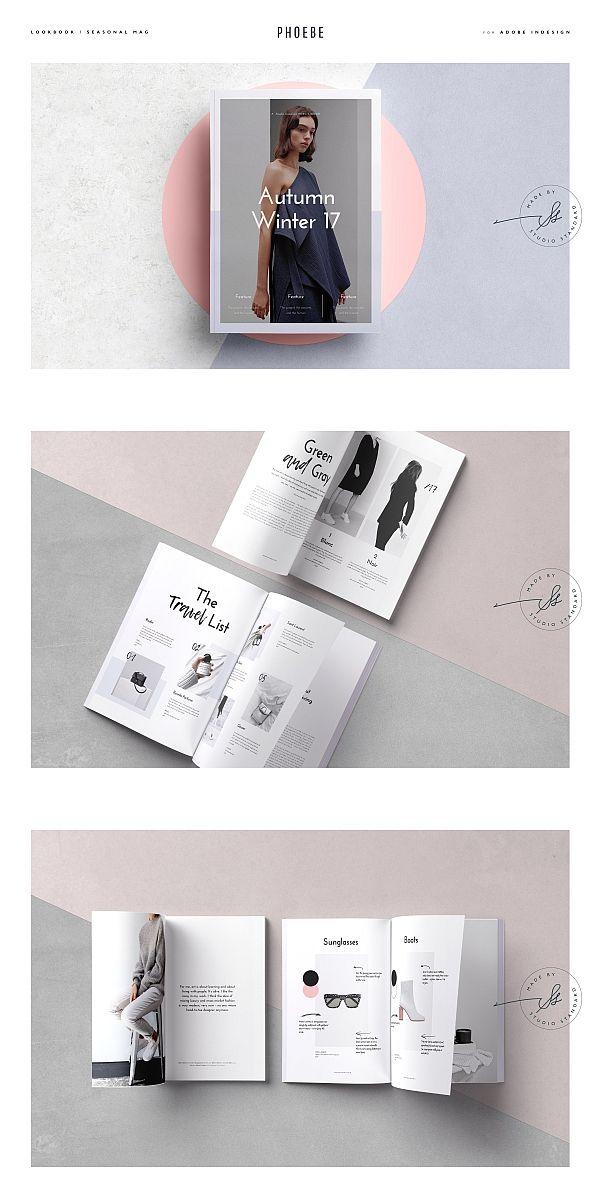 phoebe lookbook minimag 排版 pinterest brochure template