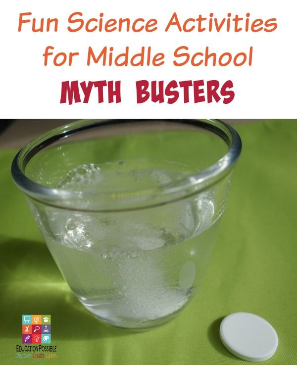 25+ Fun Science Activities for Middle School Myth Busters | Homeschool Science  Experiments | Science classroom, School science experiments, Middle school  ...