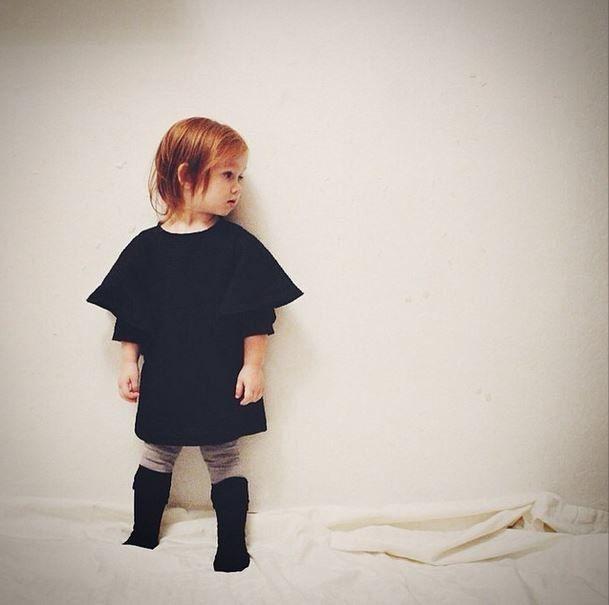 Black dress Grecha for kids.