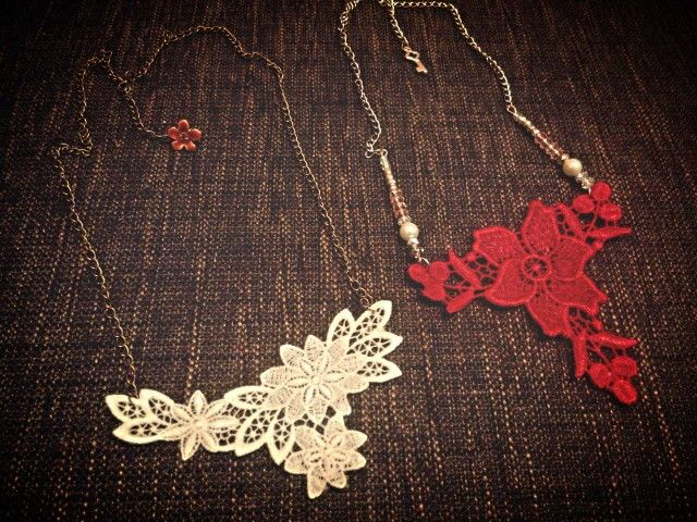 Handmade lace necklace