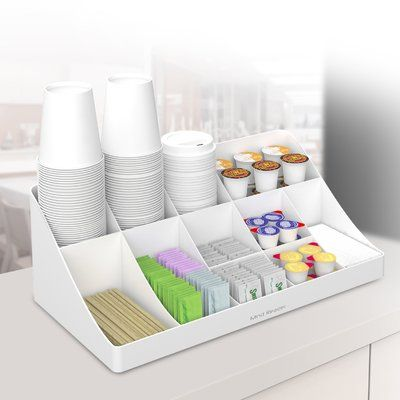 Mind Reader Pioneer 11 Compartment Coffee Condiment Organizer