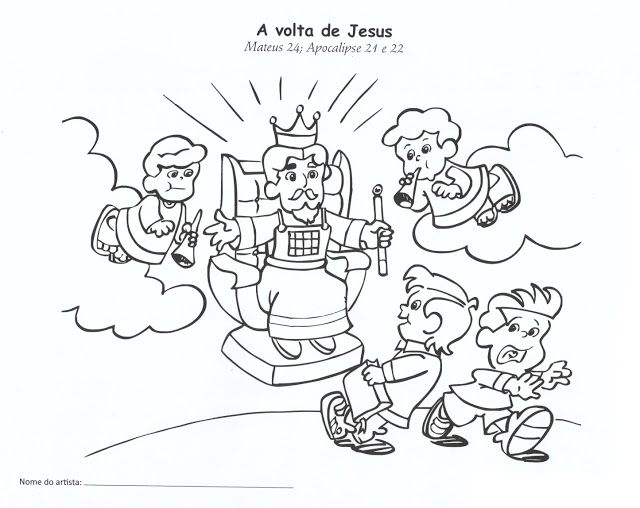 Estudo Biblico Para Criancas A Volta De Jesus Estudo