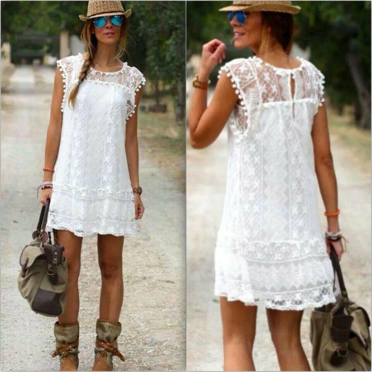 Vestidos blancos tipo ibicenco