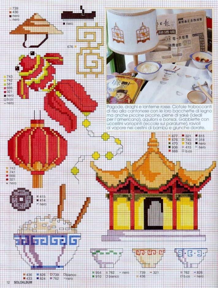 Oriental motifs